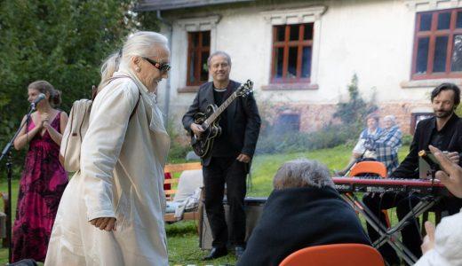 Maja Komorowska i zespół jazzowy Magdy Bożyk.Fot. Adam Walanus